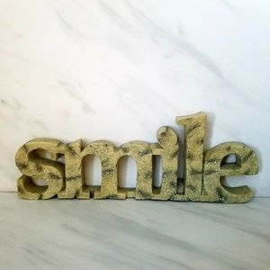 Other - SMILE Word Decor Wall or Shelf Plaque